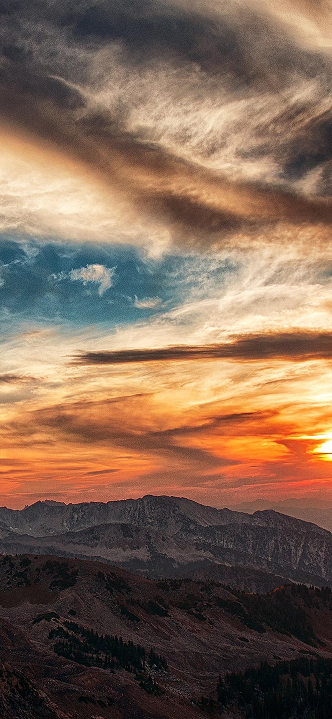 Beautiful Iphone 5 Wallpapers Nv05 Sunset Mountain Sky Cloud Nature Wallpaper