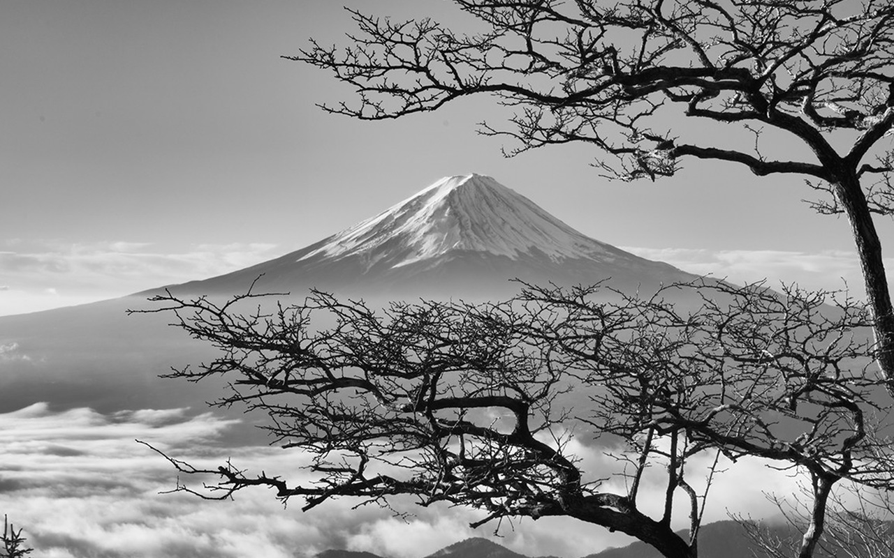 4k Fall Mountain Wallpaper Oa85 Japan Fuji Maountain Bw Nature Wallpaper