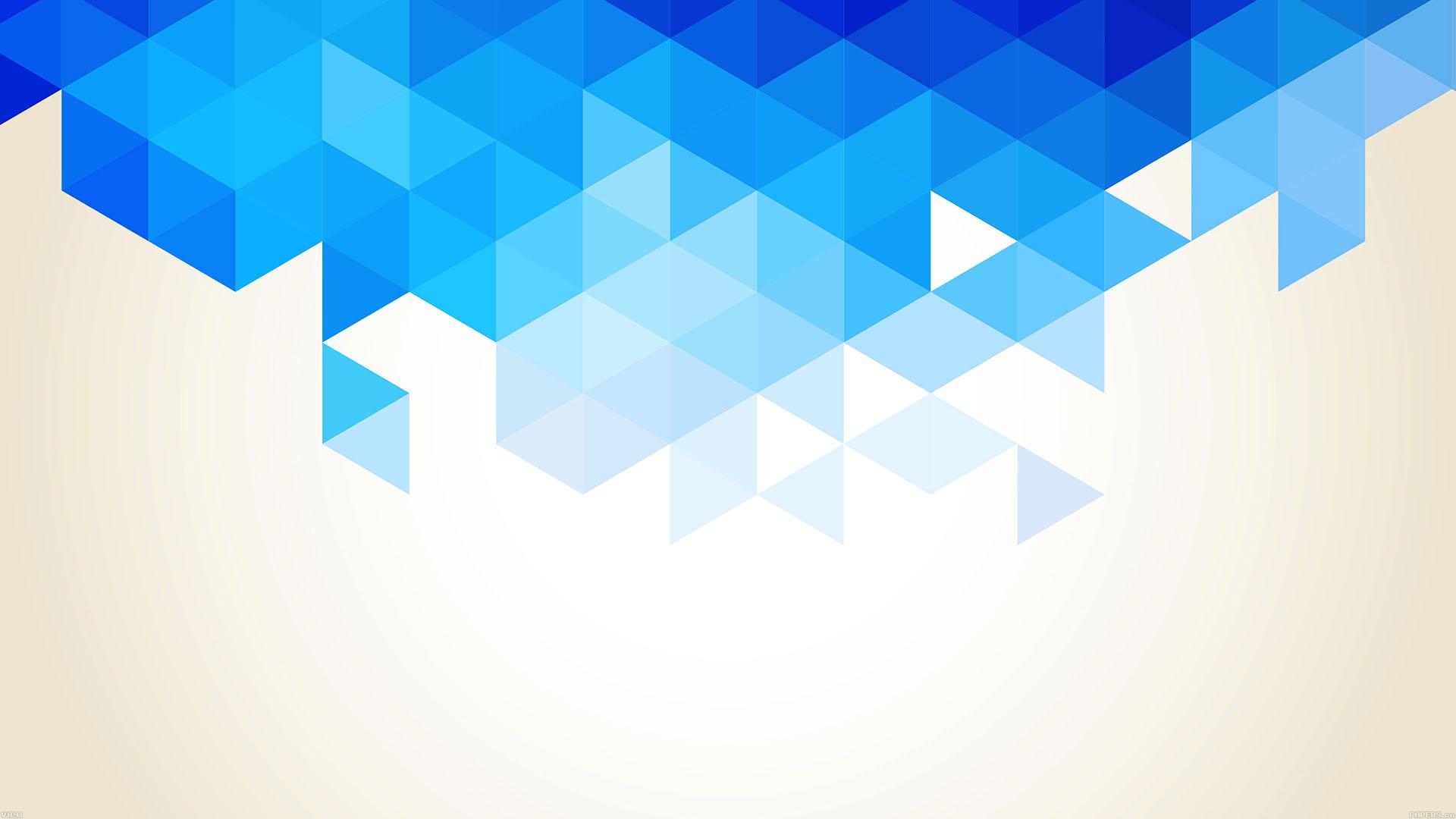 va91wallpapertrianglefallbluepatternwallpaper