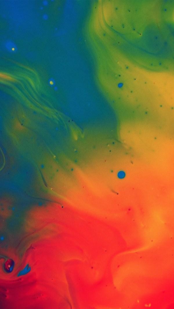 Phone Wallpaper Rainbow Paint