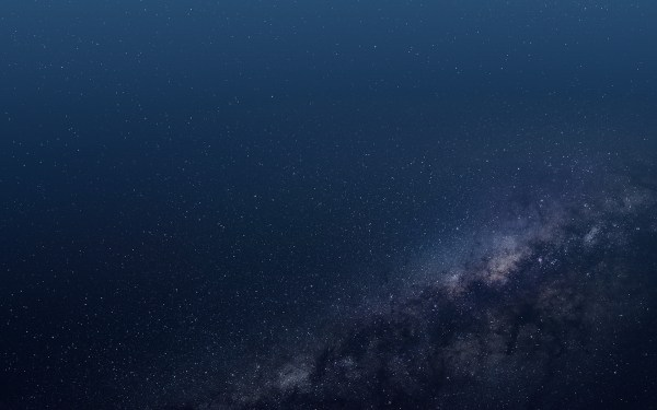 Dark Blue Space Desktop Wallpaper