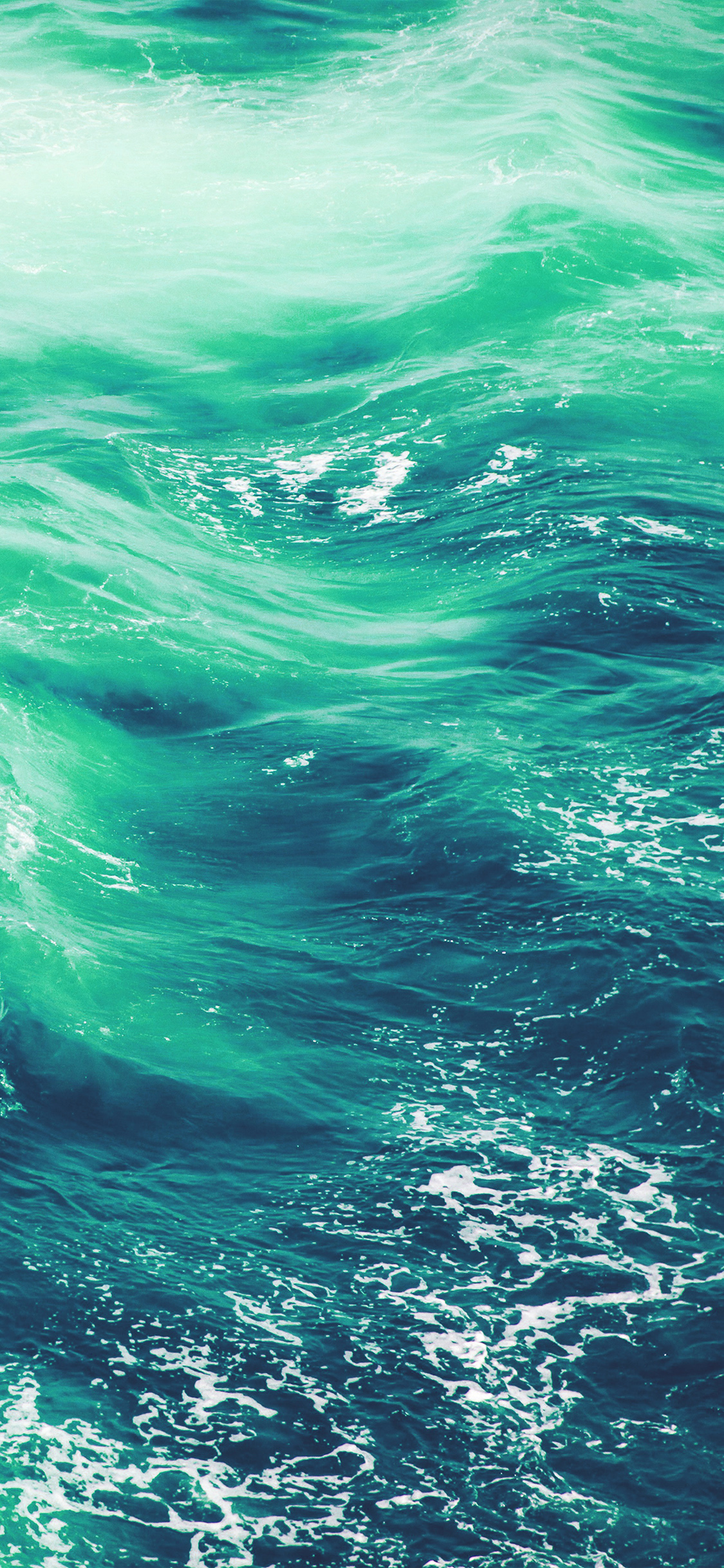 Iphone X Wallpaper For Note 8 Vq24 Wave Nature Water Blue Green Sea Ocean Pattern Wallpaper