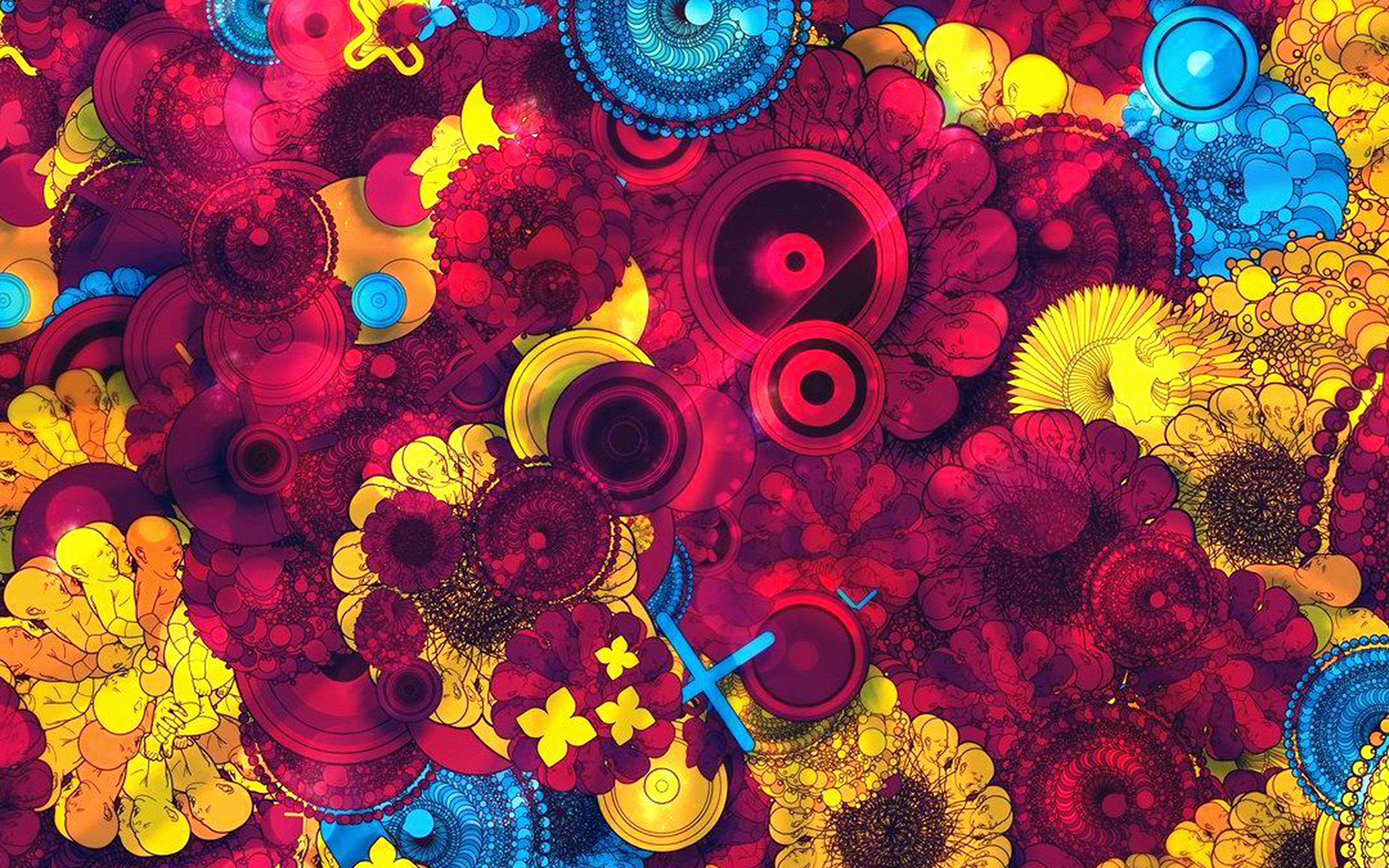 Lg Animated Wallpaper Vq58 Abstract Art Red Blue Yellow Color Pattern Wallpaper