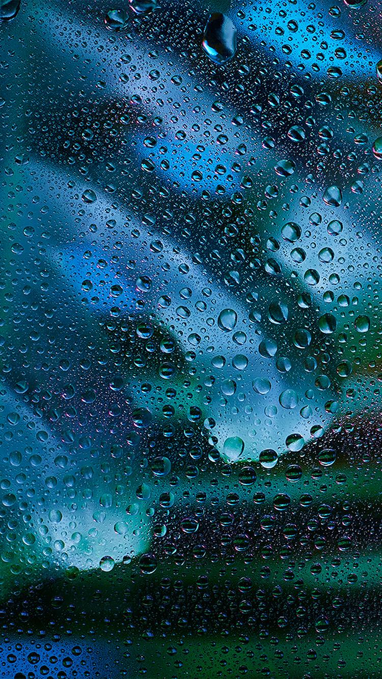 Batman Iphone 7 Wallpaper Vx10 Rainy Bubble Blue Window Pattern Background Wallpaper