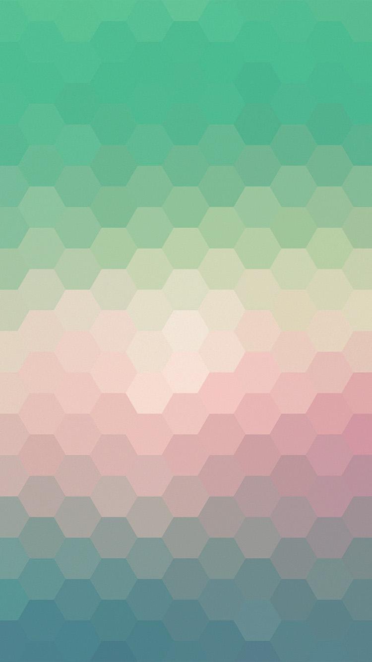 Classic Wallpaper For Iphone X Vx40 Hexagon Green Red Pattern Background Wallpaper