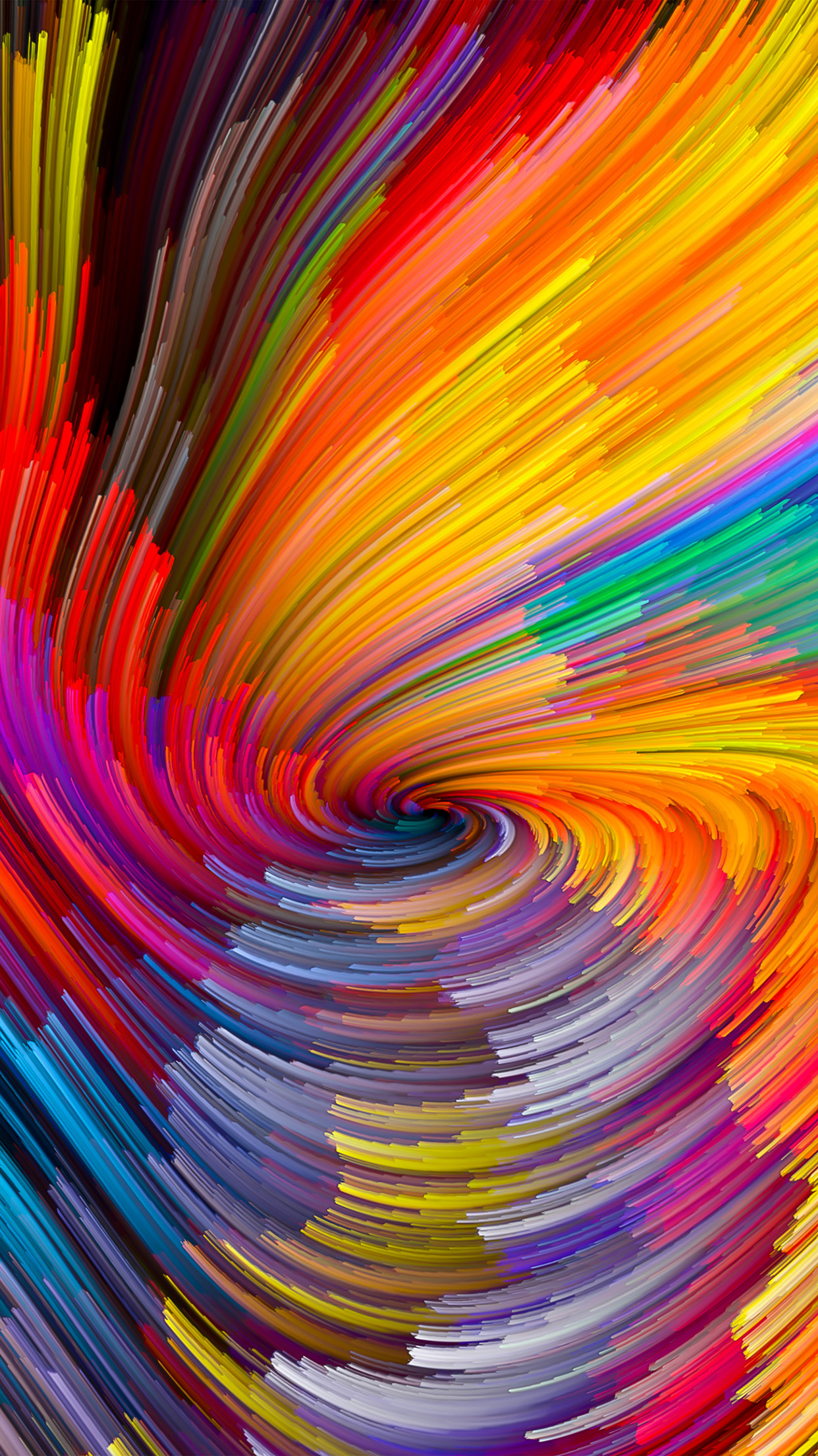 Ios 11 Wallpaper Hd Vy10 Digital Abstract Line Color Rainbow Pattern