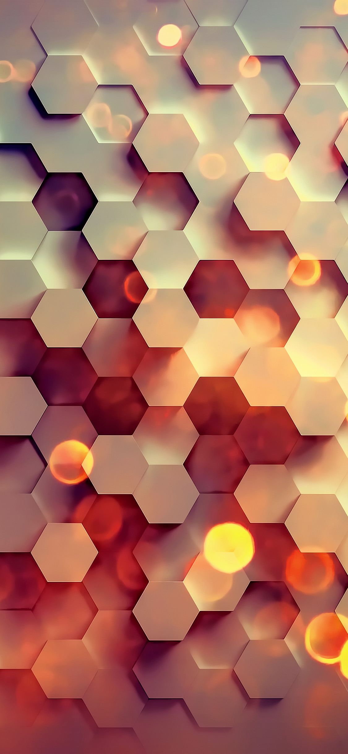 Simple Iphone X Wallpaper Vy40 Honey Hexagon Digital Abstract Pattern Background