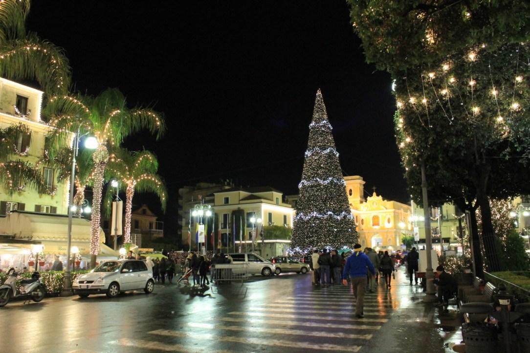 Sorrento Italy holiday decorations