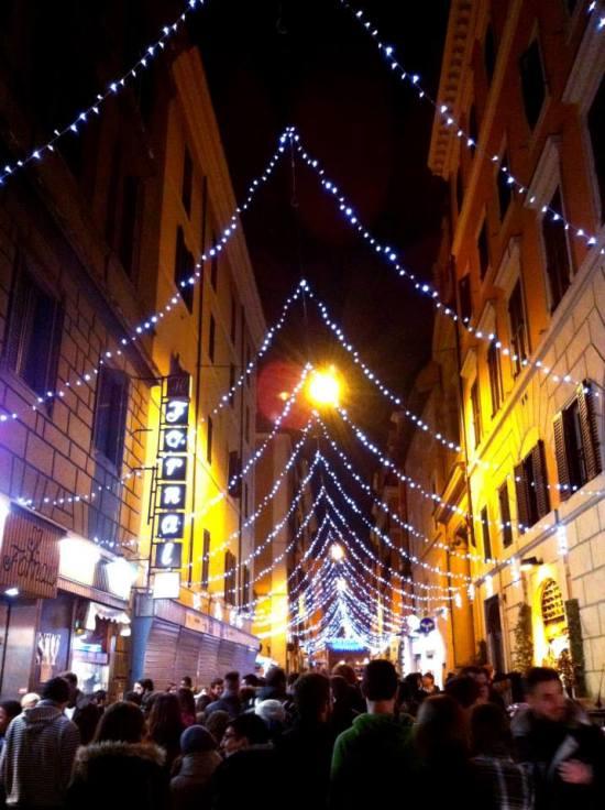 Campo de Fiori Rome lights