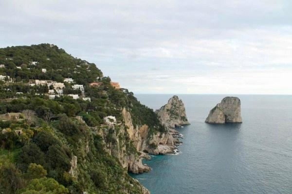 Capri Italy winter view