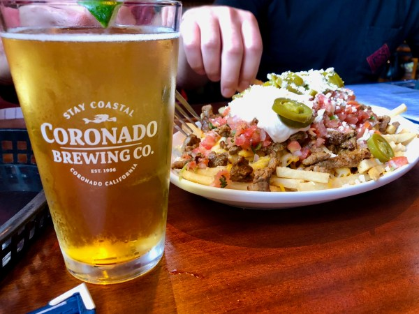Coronado Brewing Company food and beer