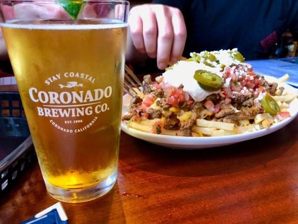 Coronado Brewing Company food and beer