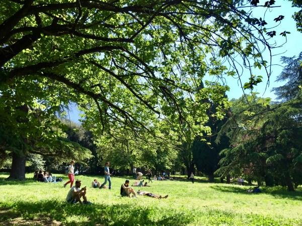 Villa Borghese gardens Rome Italy