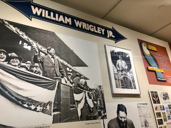 William Wrigley Jr display