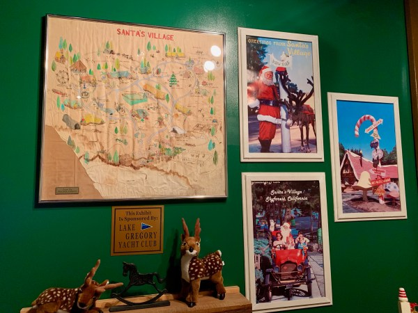 Santas Village display, Mountain History Museum