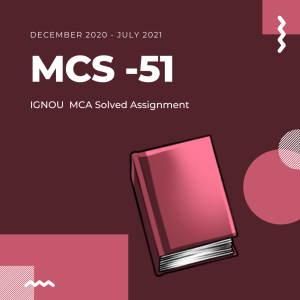 mcs 51 Solved ignou assignment