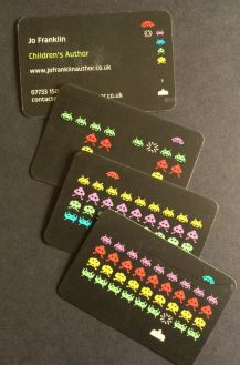 space invaders business cards