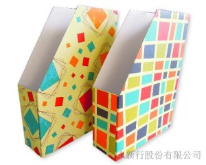 多功能雜誌盒/文件架-復古幾何系列,1
