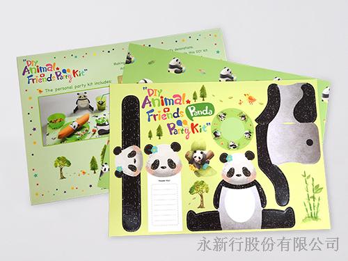 紙餐墊動物派對組貓熊-DIY貓熊,0