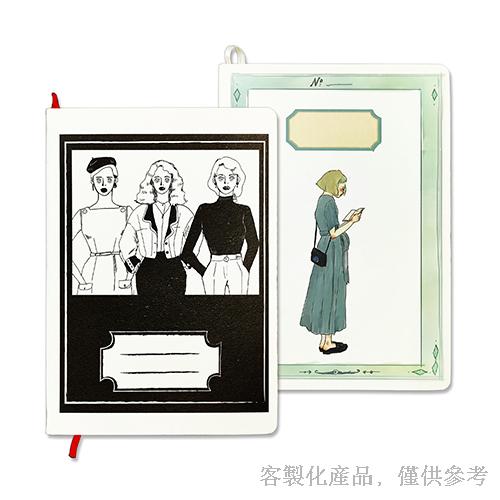 客製化縫線精裝圓角日誌-筆記本日誌,0