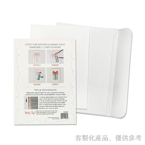 客製化DIY水彩紙卡片信封組 -卡片,0