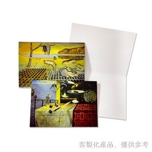 客製化達利美術館卡片信封組-卡片4圖/組,2