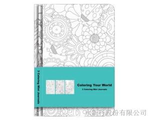 著色系列小筆記本組-筆記本74-64N,1
