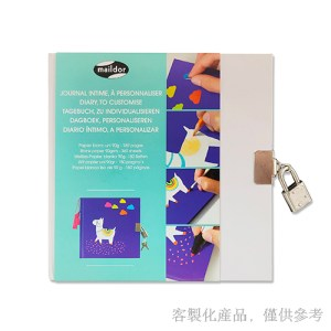 客製化掛鎖精裝DIY筆記繪圖本-筆記繪圖本,2