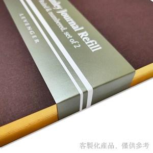 客製化燙金邊縫線筆記本,1