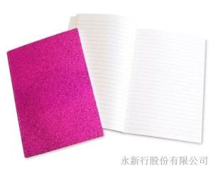 金蔥系列書籍式膠裝筆記本-筆記本_66-16N,2