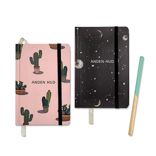 Customized Journal Sewn Binding Hardcover Notebook