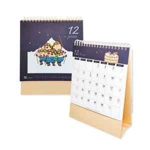 客製化雙線圈三角桌曆-三角桌曆-1