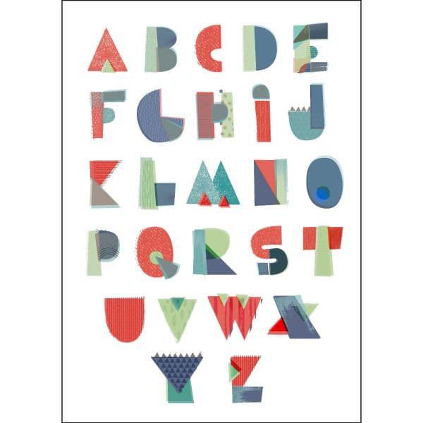 textured shapes alphabet childrens