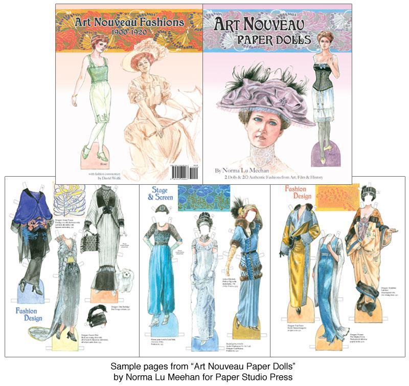 Art Nouveau Paper Dolls Graceful Ornate Fashions 12