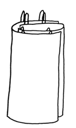 Agnes Geijer's proposed arrangement of the apron-dress with two rectangles of cloth wrapped around the body.