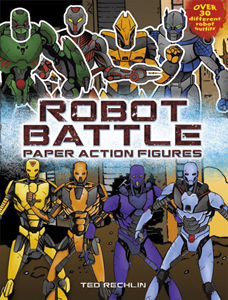 Robot Battle Paper Action Figures by Ted Rechlin