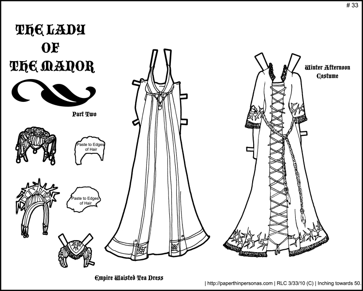 Fantasy Printable Paper Doll: Lady of the Manor Part 2