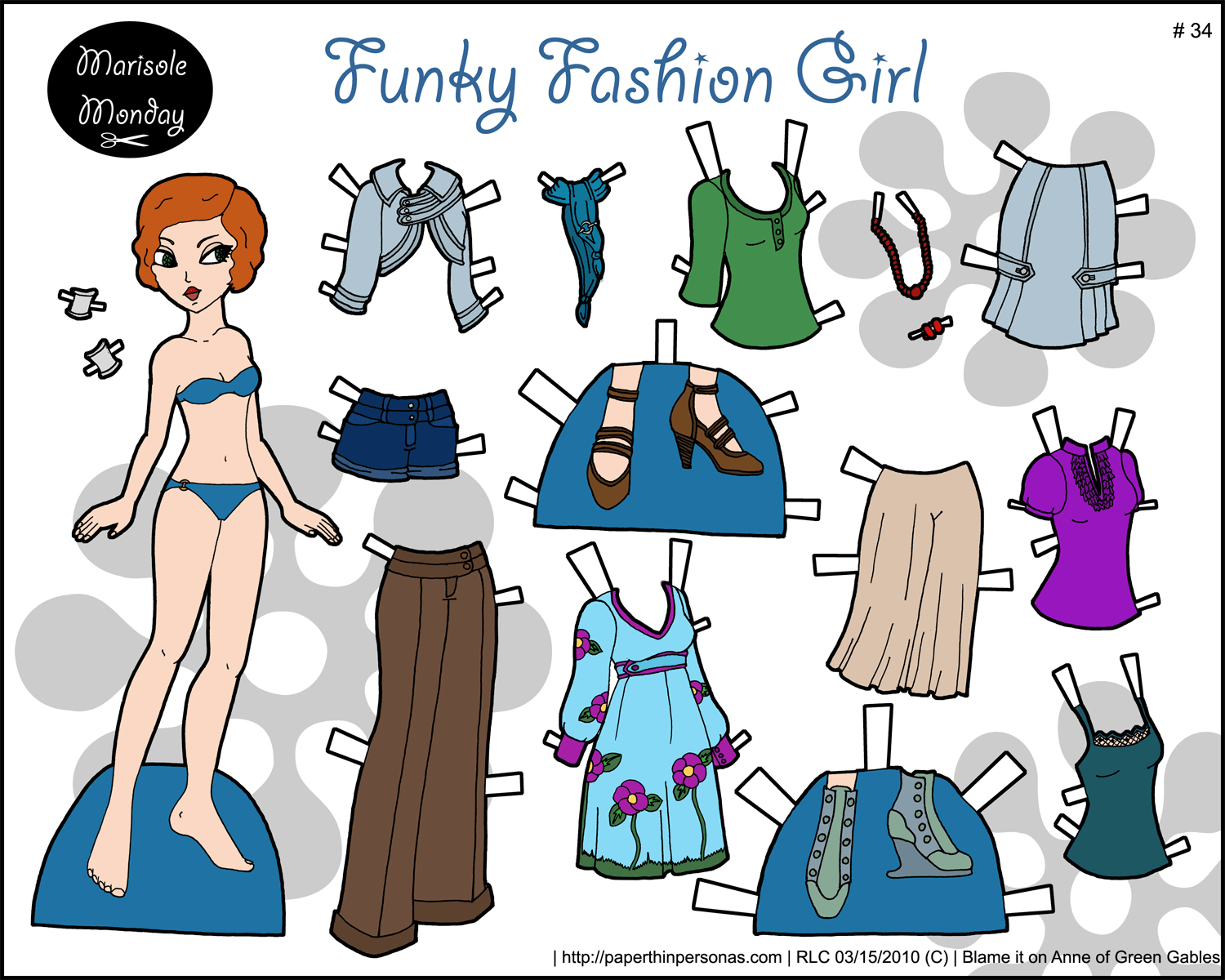 photograph regarding Paper Doll Clothing Printable named Funky Design Lady: Printable Paper Doll Paper Skinny Personas