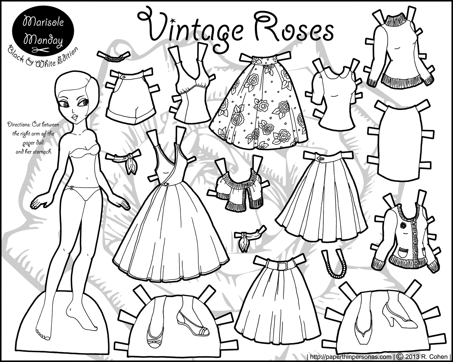Marisole Monday Vintage Roses Paper Thin Personas
