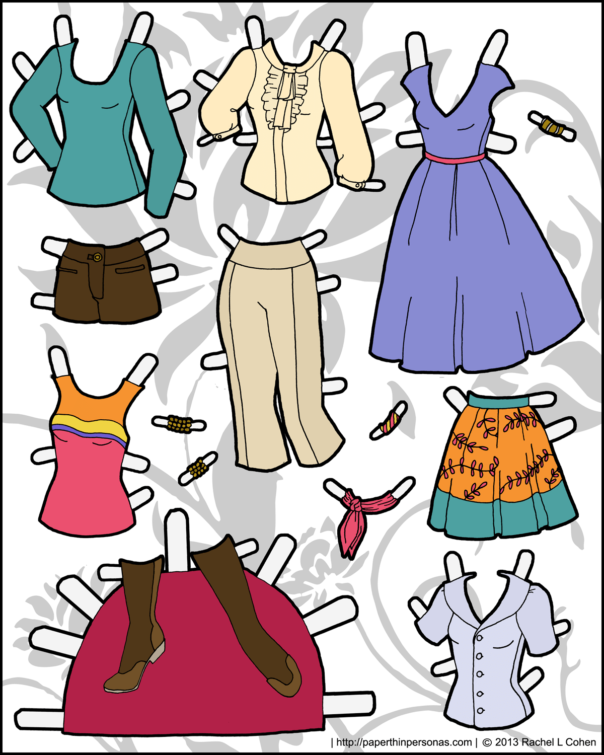 Another Sheet Of Clothing For Ms Mannequin Paper Thin