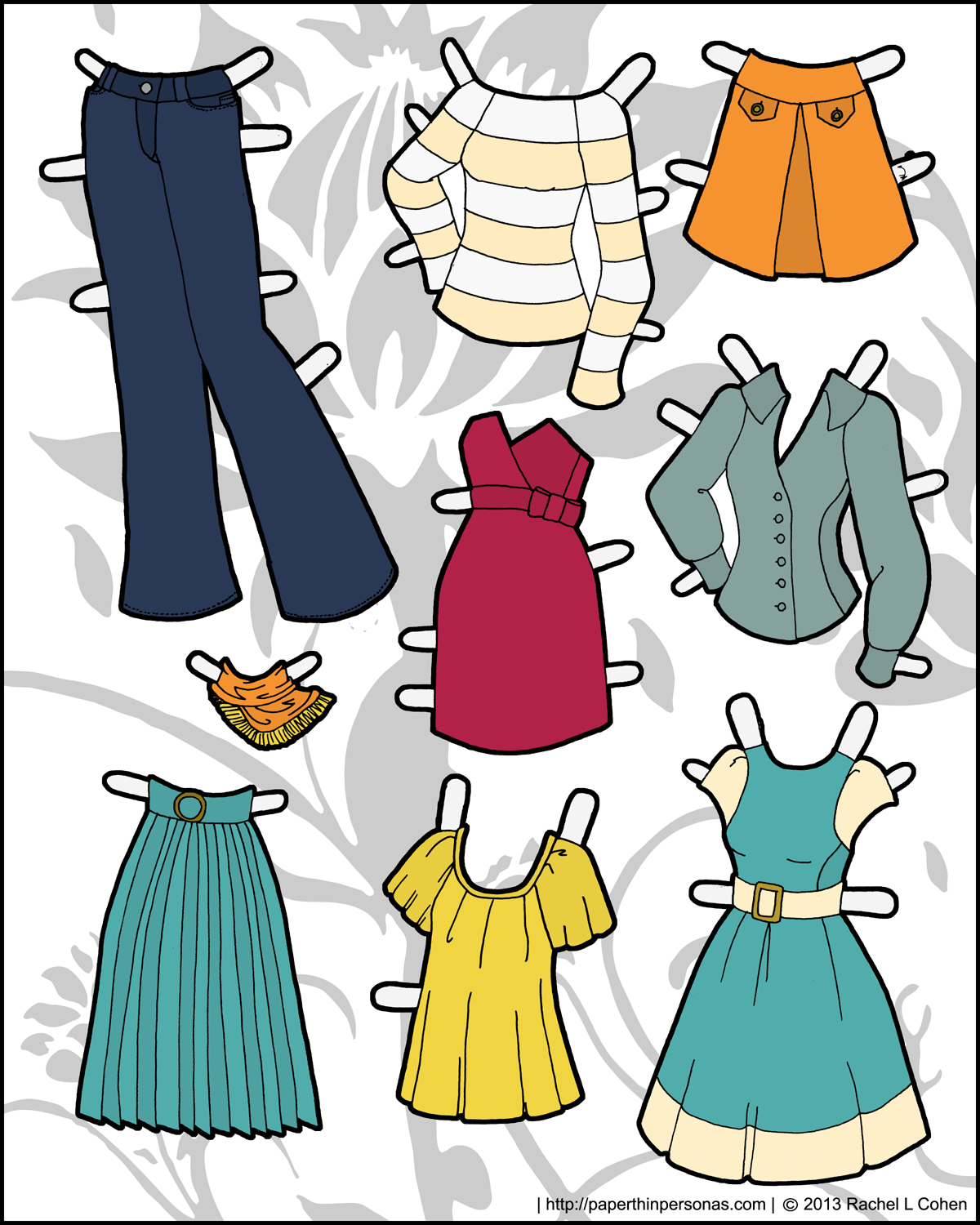 photograph regarding Paper Doll Clothing Printable identified as And nevertheless even more garments for the Ms Model Printable Paper