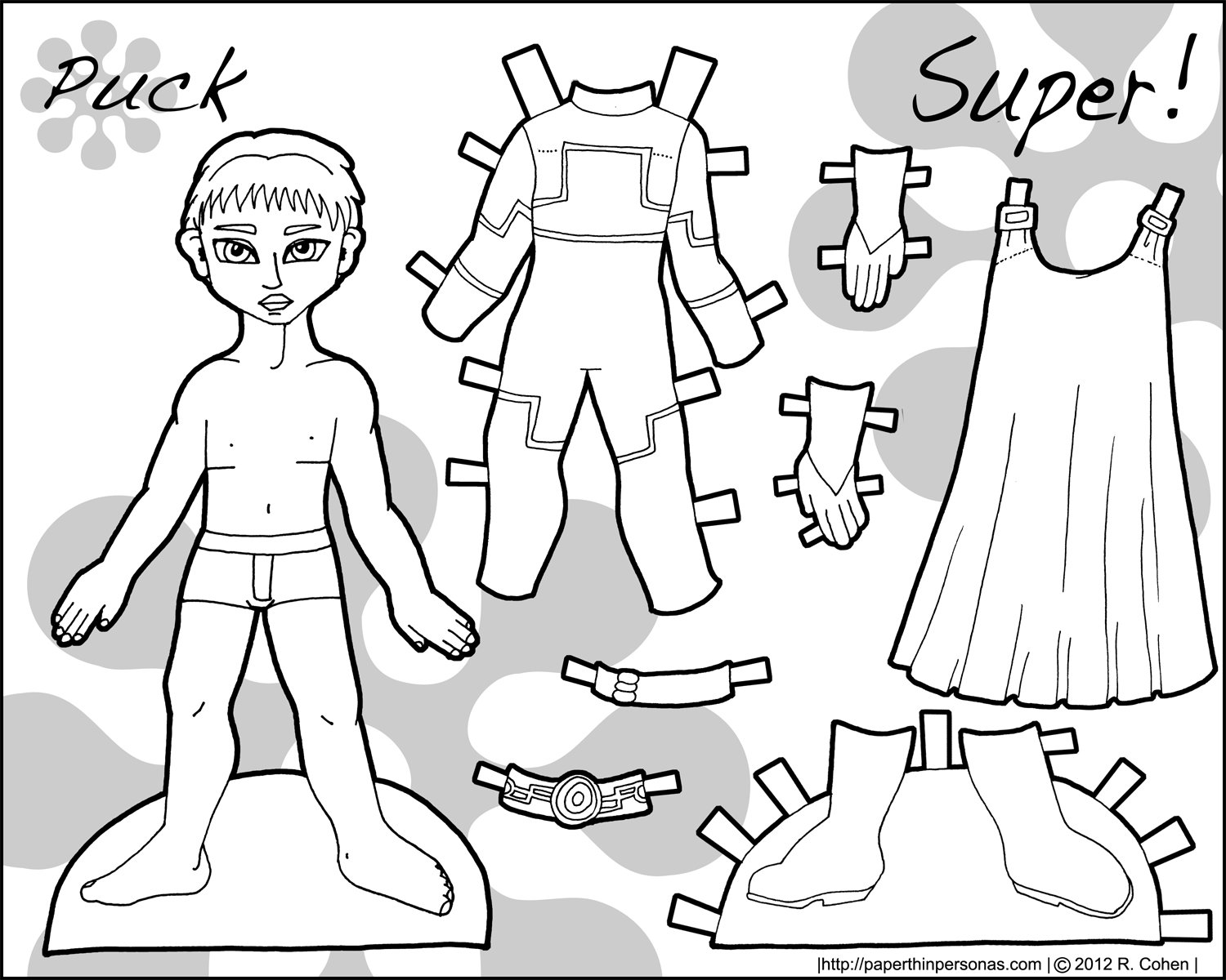 Puck Paper Dolls For Boys Paper Thin Personas