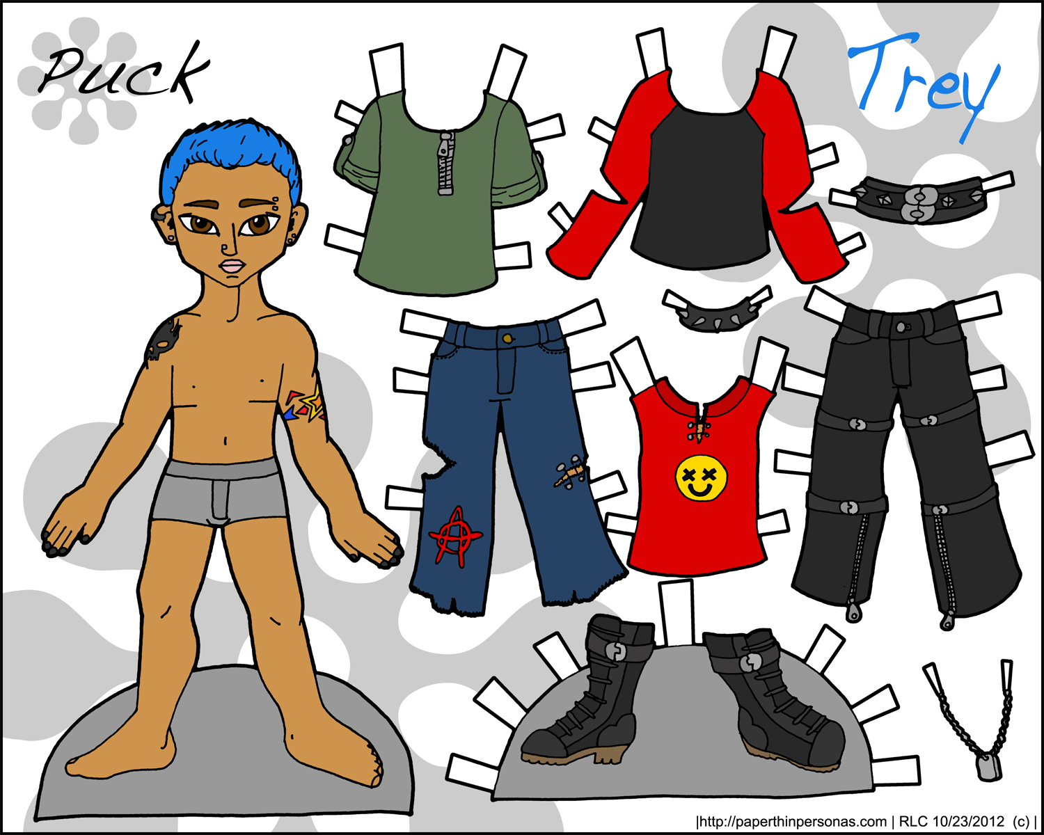 Puck Trey He S A Little Bit Punk Paper Thin Personas