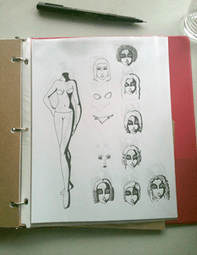 The most important blog documents are the master copies of every paper doll series.