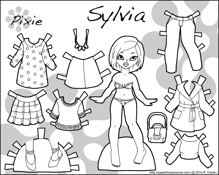 Sylvia: An Asian Printable Paper Doll with Contemporary