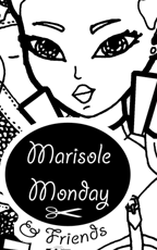 Marisole Monday Logo. Mia knight paper doll coloring sheet