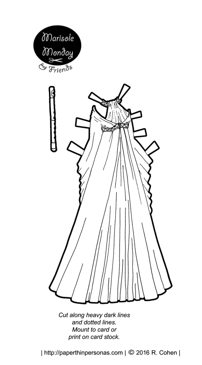 Fantasy gown for a paper doll! The doll to wear the gown is available on paperthinpersonas.com along with a lot of over lovely gowns.