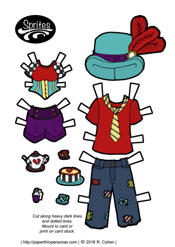 Modern Alice and the Mad Hatter Outfits for some paper dolls!