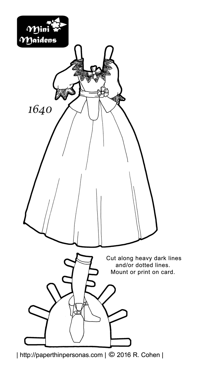 Exploring History With A 17th Century Paper Doll Dress