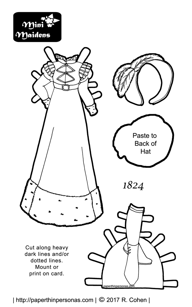 A Rockabilly Paper Doll Dress To Print Color and Play With